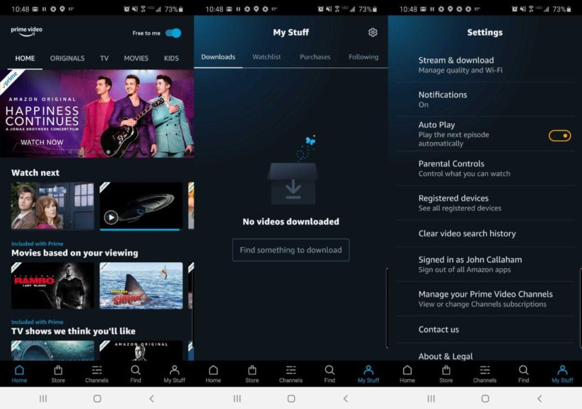 приложение для истории видео amazon prime
