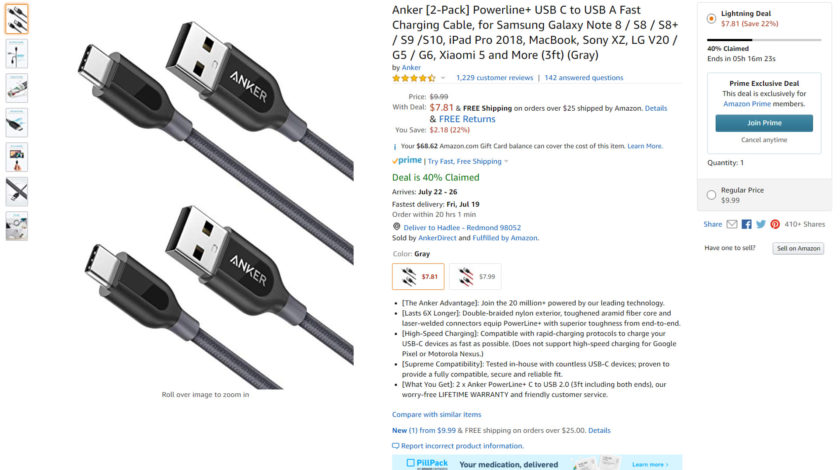 Anker cables on Amazon.