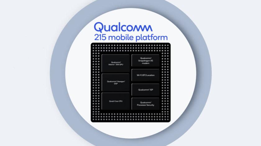 The Qualcomm 215 mobile platform.