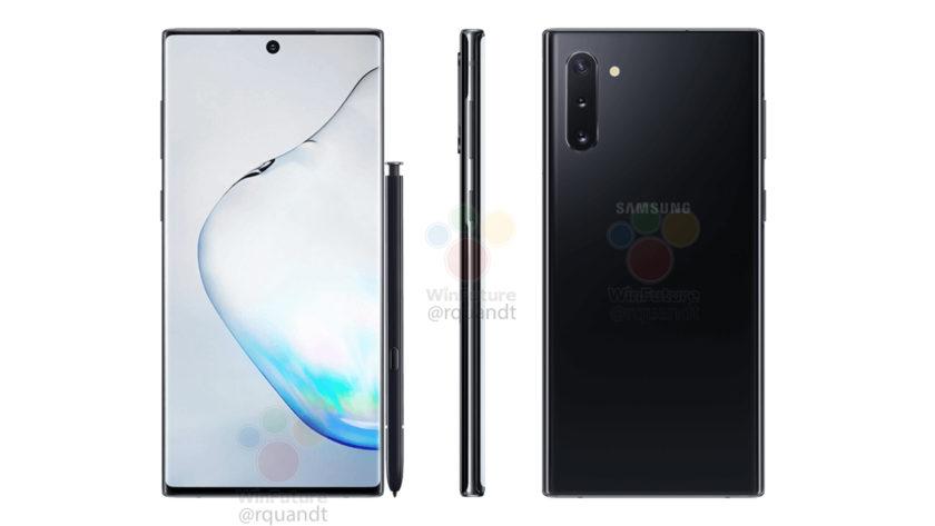 Samsung Galaxy Note 10 Leaked Press Renders
