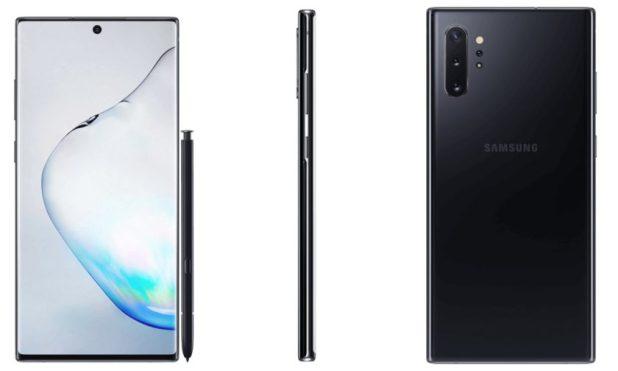 Samsung Galaxy Note 10 Plus Black Leaked Renders