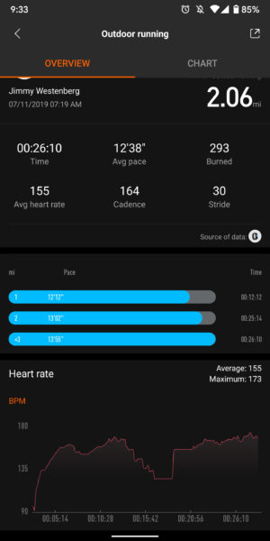 xiaomi mi band 4 heart rate readings test