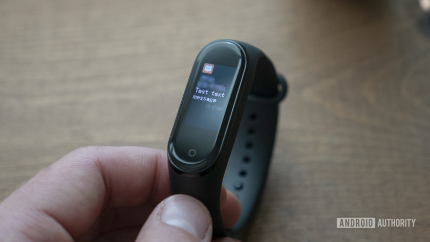 xiaomi mi band 4 review notifications sms sms