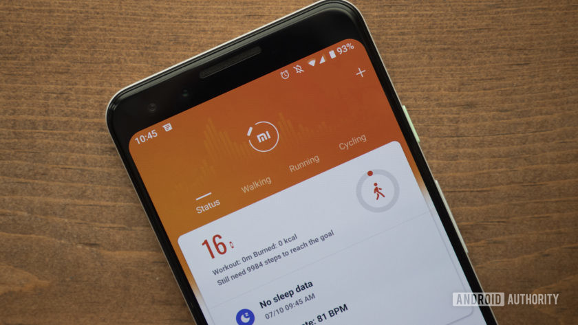 xiaomi mi band 4 review xiaomi mi fit app google pixel 3