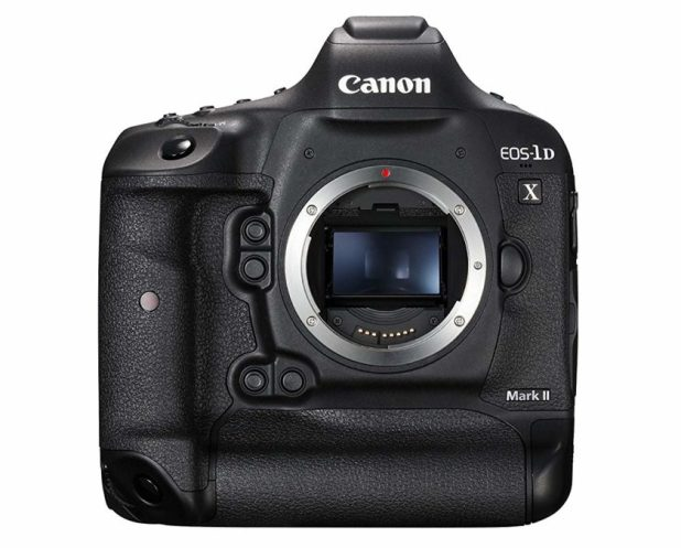 Canon EOS 1D X Mark II front side without a lens.