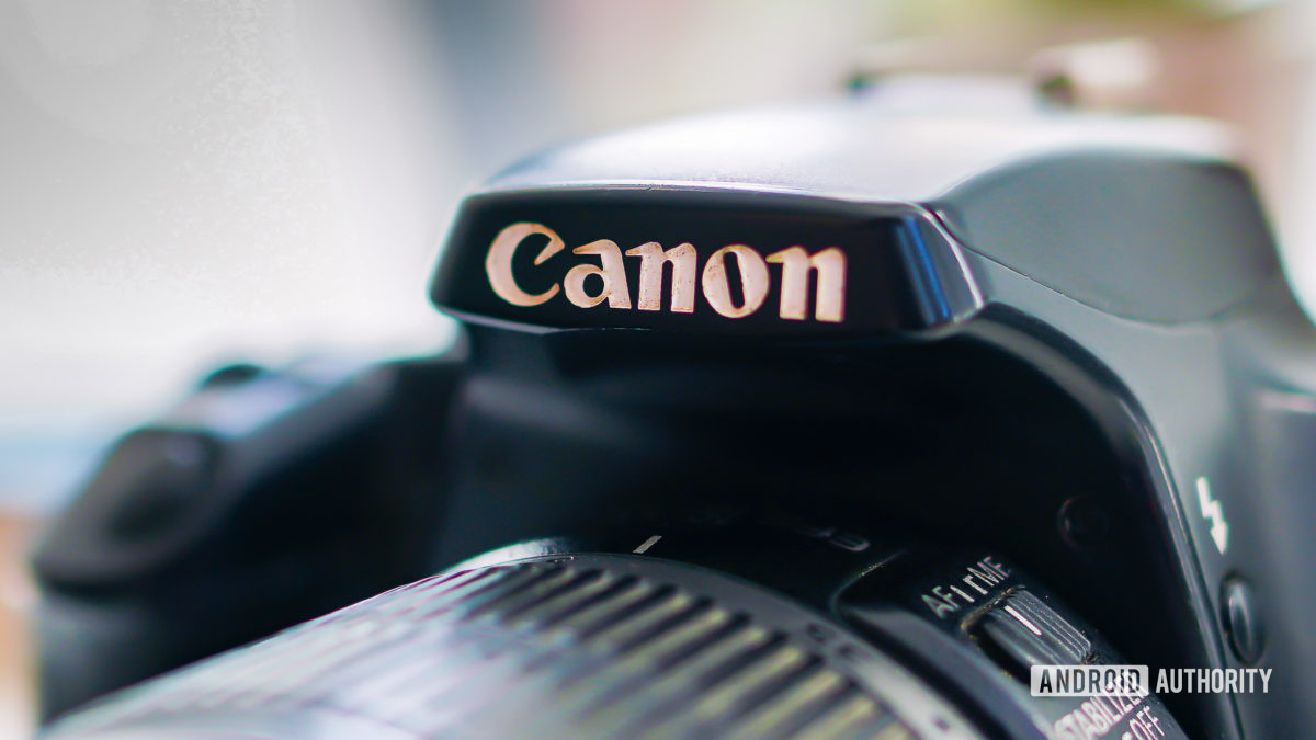 Canon logo close up