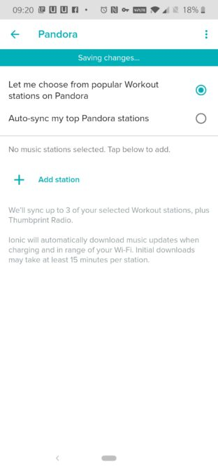 Интеграция Fitbit и Pandora