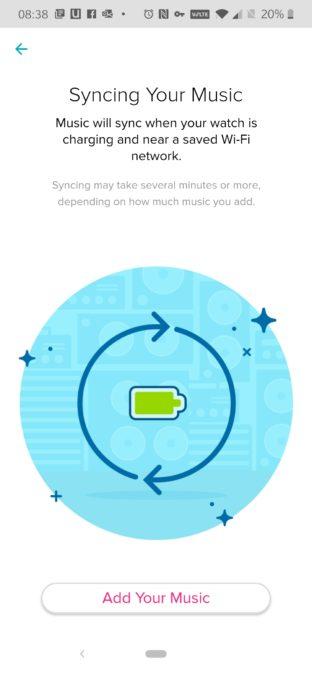 Приложение Fitbit показывает, как работает синхронизация Deezer