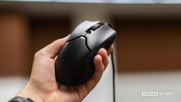 Razer Viper in hand at angle