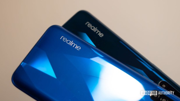 Realme branding on Realme 5 and 5 Pro