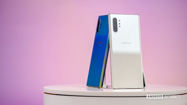 Samsung Galaxy Note 10 Plus Aura White back at angle