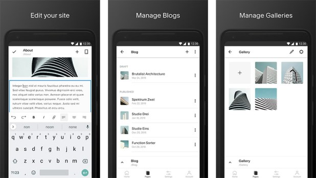 Squarespace is one of the best new android apps