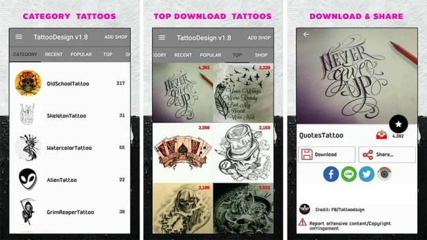 Tattoo Designs is one of the best tattoo apps for android
