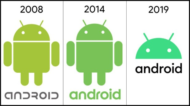 android logos 2007 2014 2019
