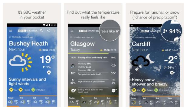 bbc weather app