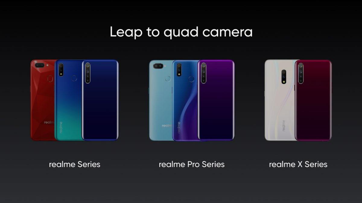 Realme telephones with quad cameras & # 39; s.