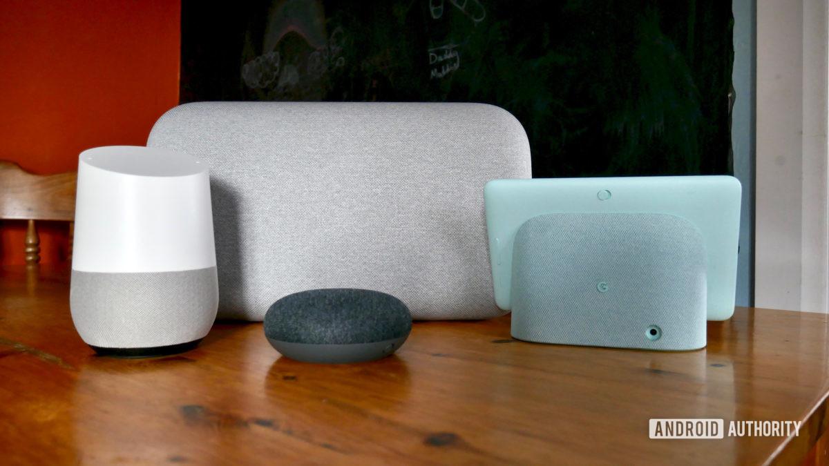 Google Home Nest устройства