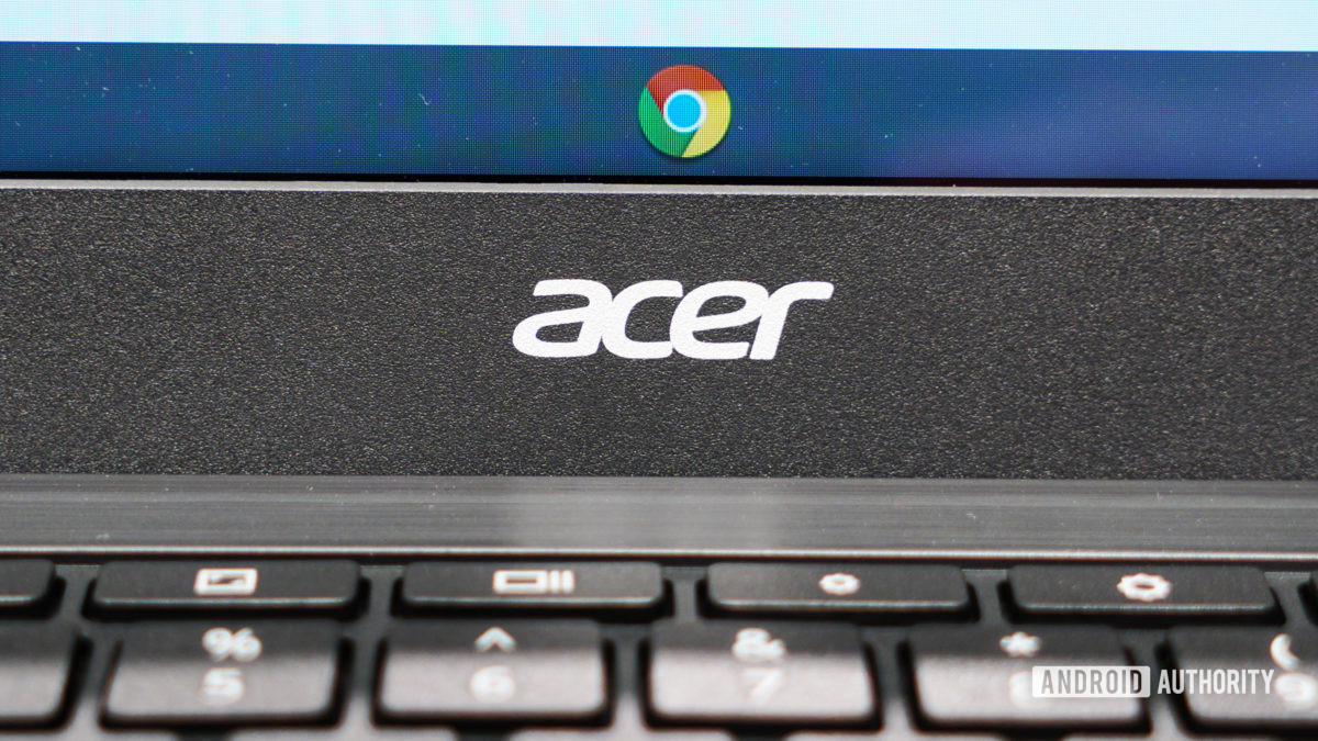 Acer logo with Chrome logo