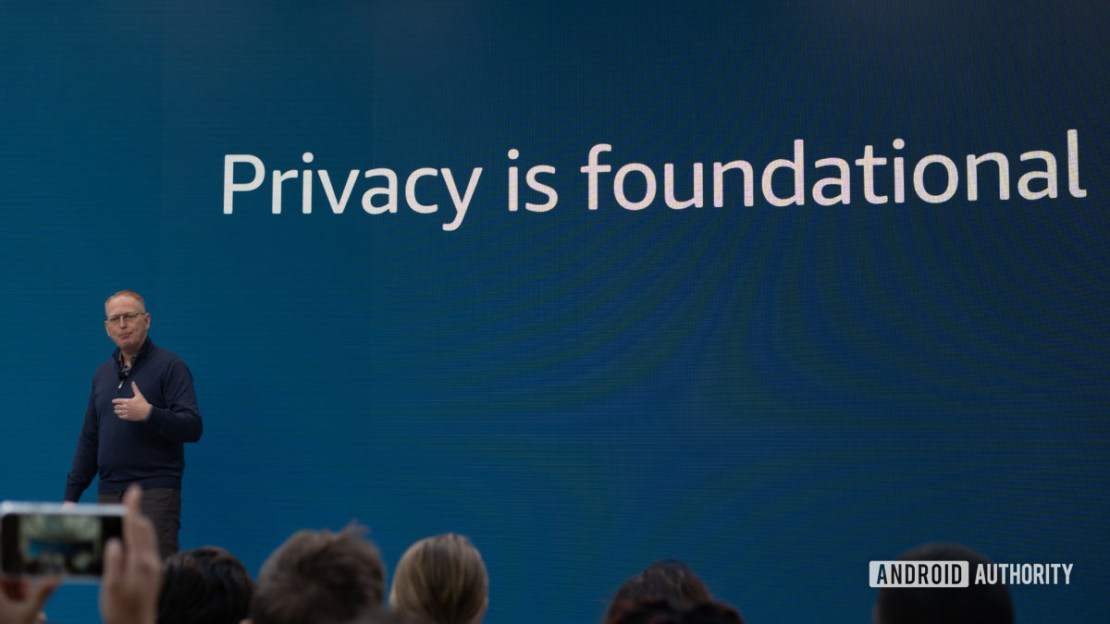 Amazon hardware day privacy is foundational