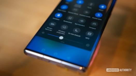 Huawei Mate 30 Pro Notification quick settings