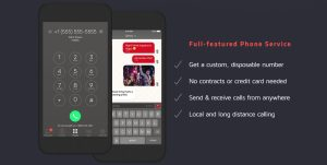 Hushed Private Phone Line Features