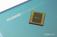 Kirin 990 chipset with Huawei logo on phone