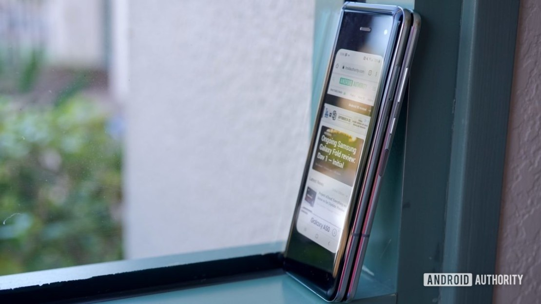 Samsung Galaxy Fold Review window sill