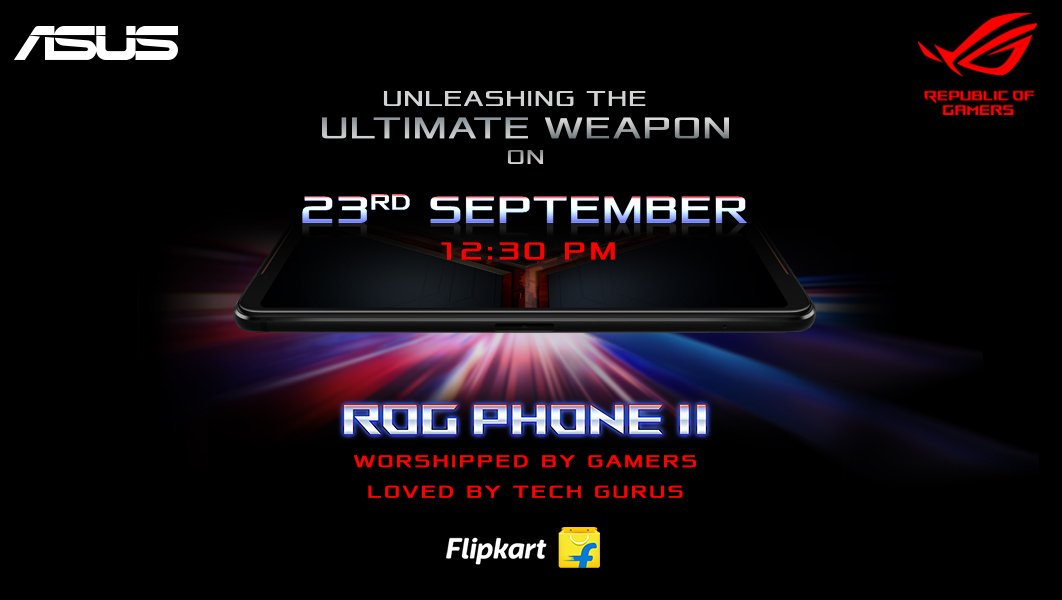 Asus India announcing the ROG Phone 2 launch.