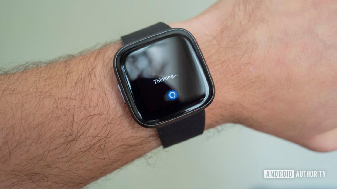 fitbit versa 2 review on wrist amazon alexa thinking