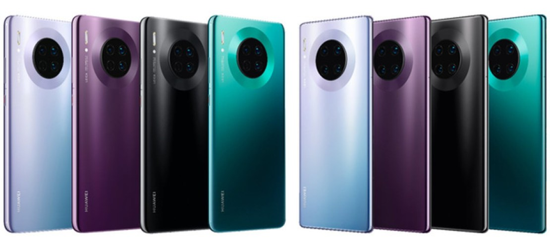 Apparent Huawei Mate 30 series colorways.