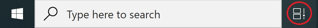 windows timeline taskbar icon screenshot