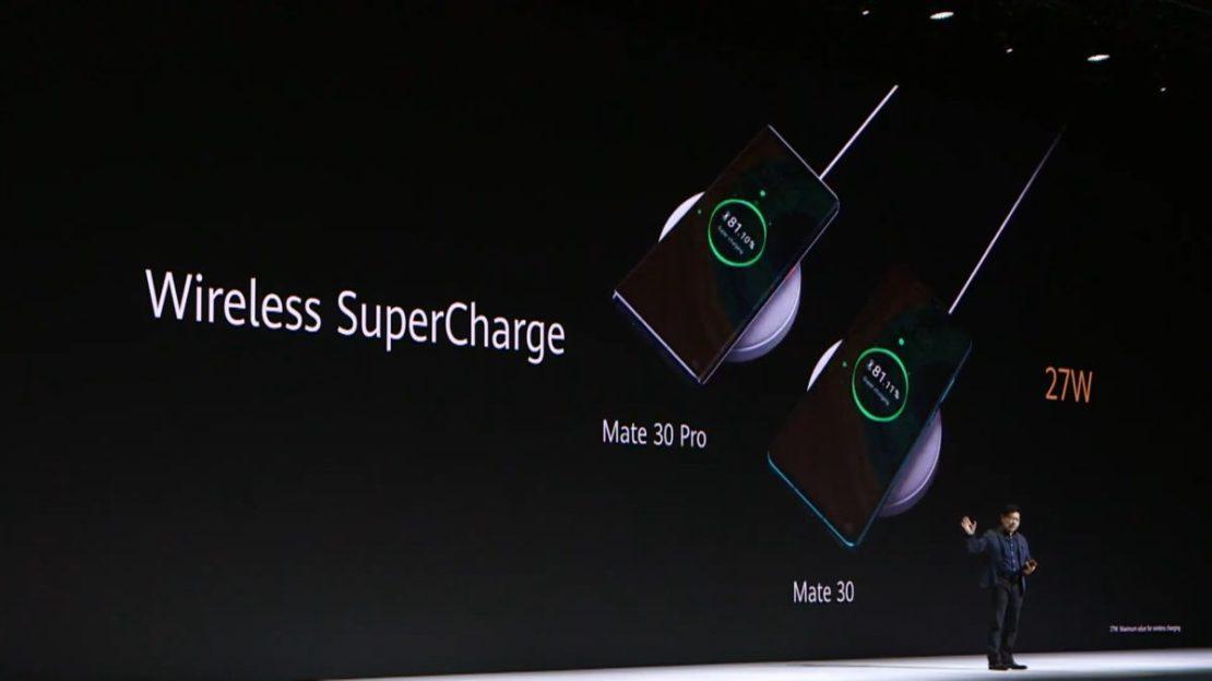 wireless charging Huawei Mate 30 launch