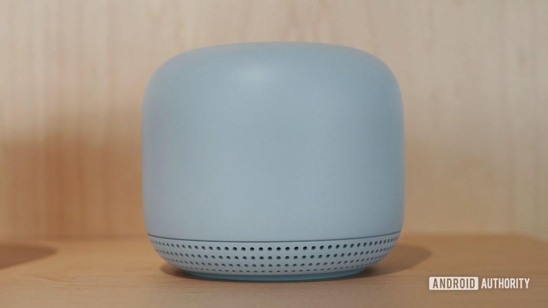Google Nest Wi Fi in blue