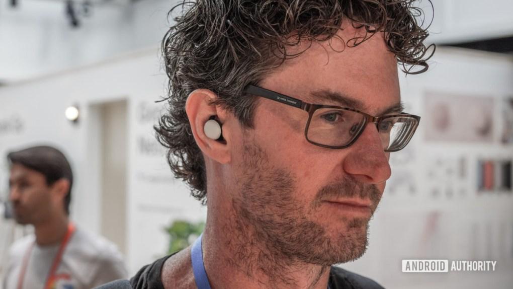 Google Pixel Buds in ear 4