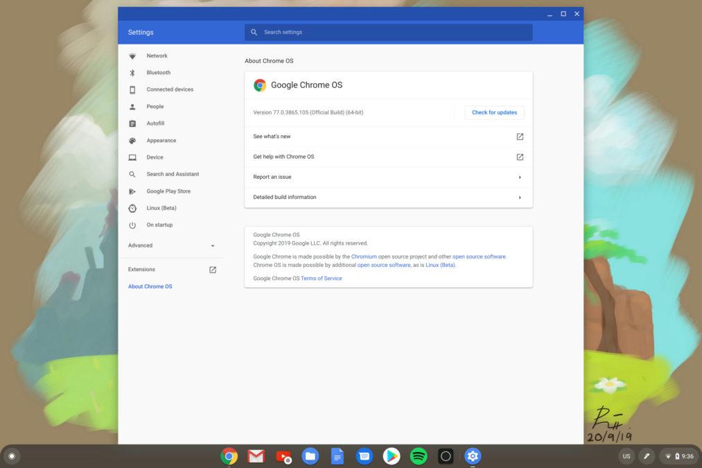 Как обновить Chromebook 2