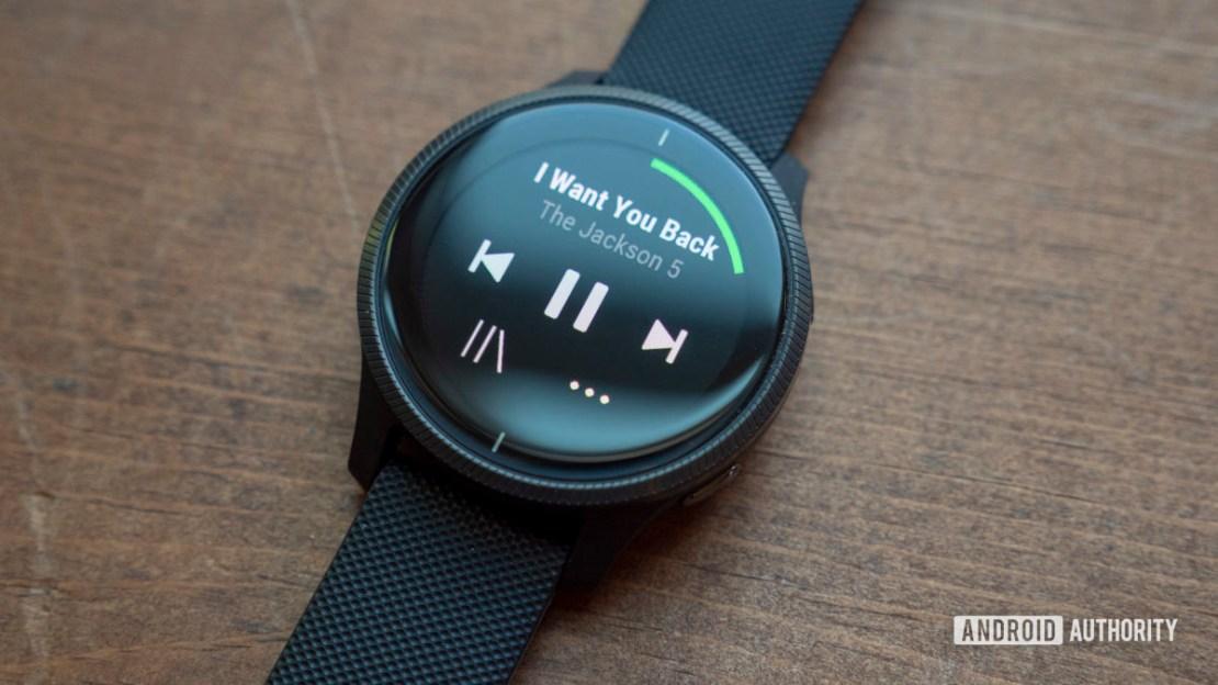 garmin venu review spotify app music