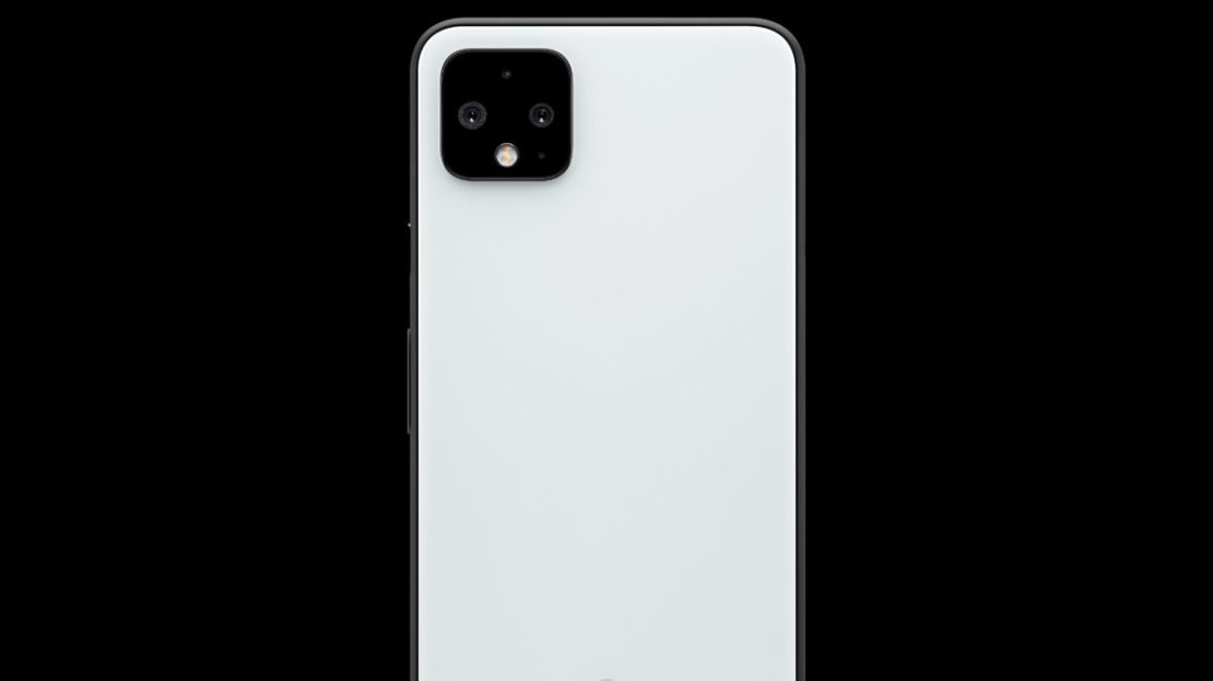 google pixel 4 xl clearly white with black background