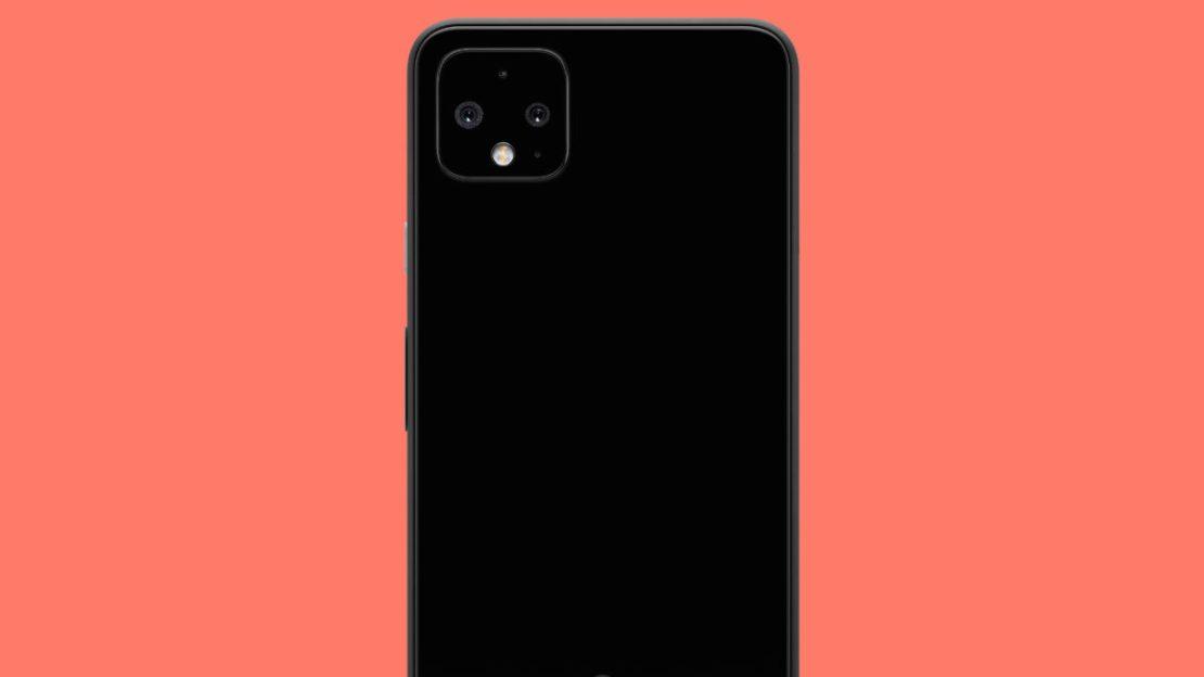 google pixel 4 xl just black back with orange background