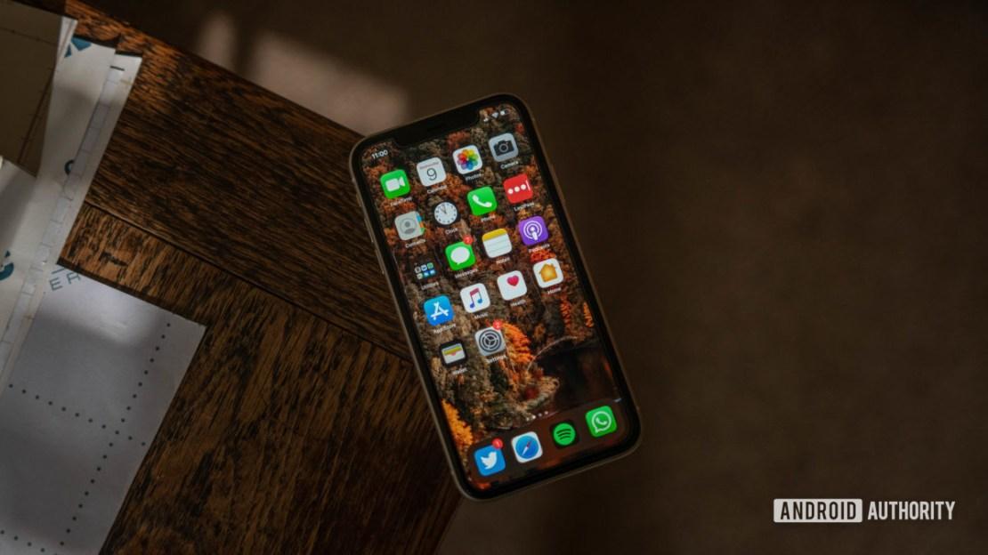 iphone 11 display angled