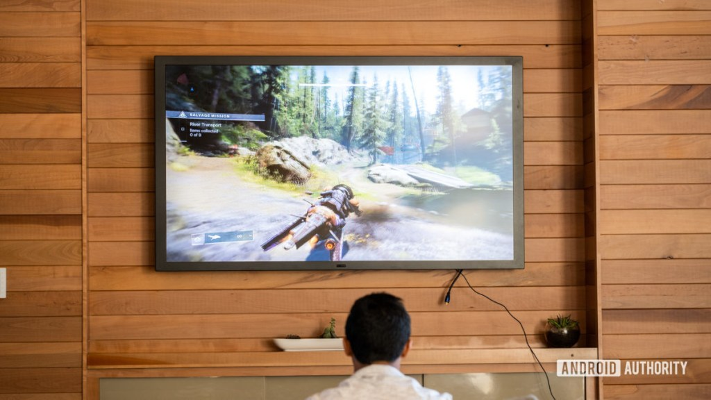 Google Stadia играет по телевизору