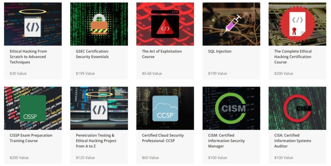 The A to Z Cyber Security and IT Certification Training Bundle