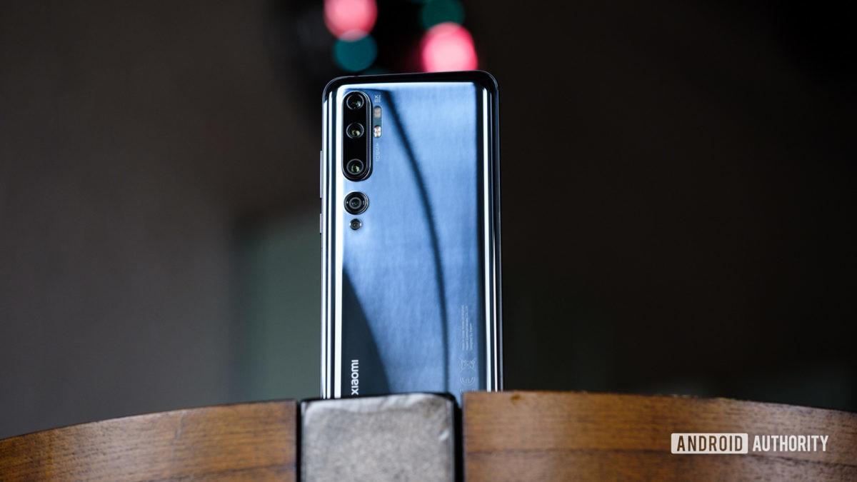 Xiaomi Mi Note 10 задняя часть телефона