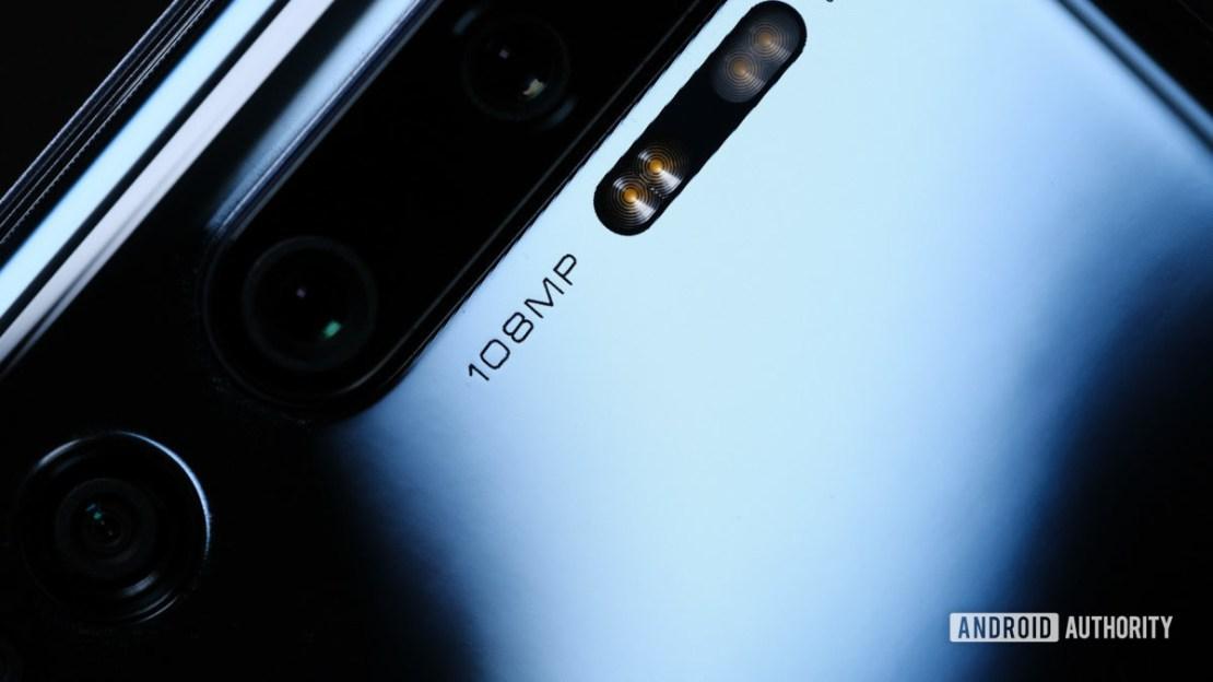 Xiaomi Mi Note 10 camera and logo macro
