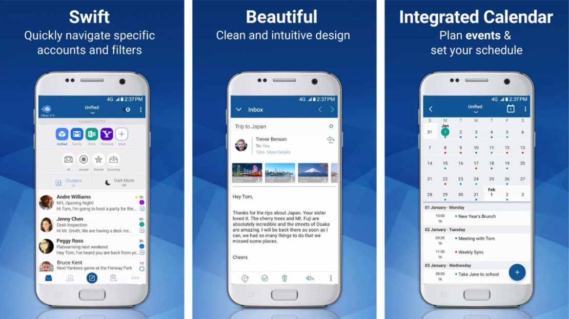 Blue Mail best free android apps