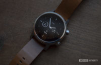 Moto 360 2019 review on table watch face display 1