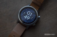 Moto 360 2019 review on table watch face display 3