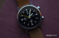 Moto 360 2019 review on table watch face display 5