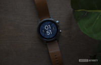Moto 360 2019 review on table watch face display 6