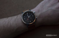 Moto 360 2019 review on wrist watch face 3