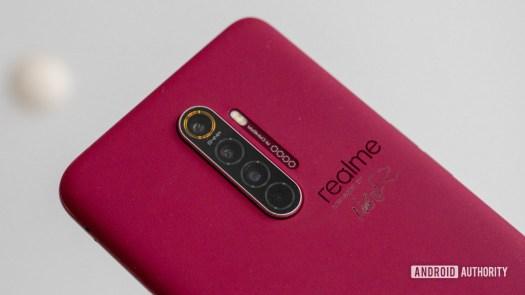 Realme X2 Pro Master Edition in Red Brick camera closeup